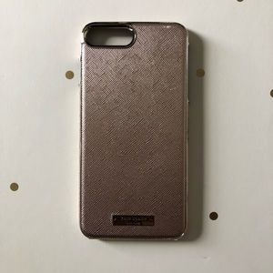 Rose Gold Leather Kate Spade iPhone 8 Plus Case